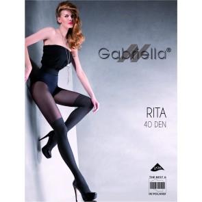 Rajstopy Rita 40DEN Nero - Gabriella