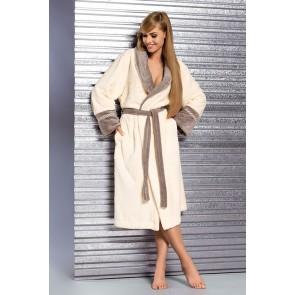 Long bathrobe model 122868 L&L collection